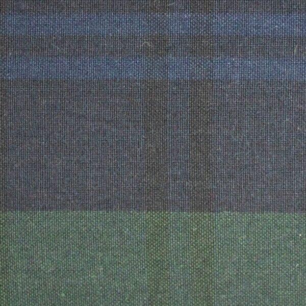 P200 Hybrid/Aero Dark Black Watch Tartan waxed cotton textile for waxed jackets, apparel, luggage, footwear and accessories