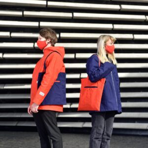 Dundee launches 'The Dundee Raincoat' – a collaboration between designer Kerrie Aldo, Halley Stevensons