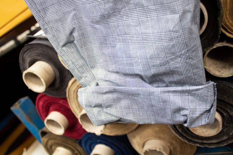 P140 Hybrid/Aero Prince of Wales Tartan garment sample