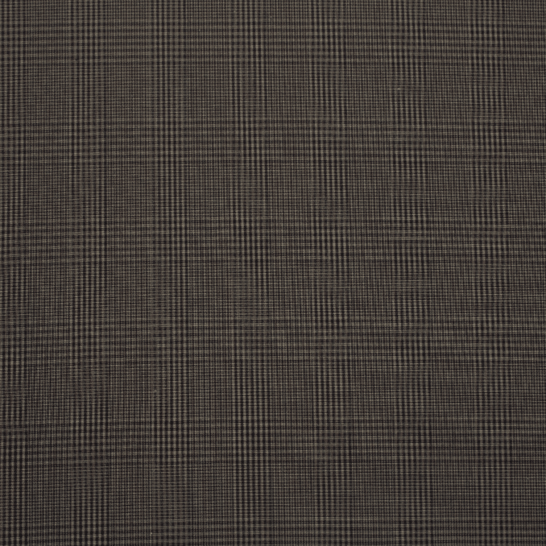 P140 FCF Discovery Prince of Wales tartan Charcoal waxed cotton fabric by Halley Stevensons